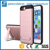 De mobiele Bijkomende Gouden Dekking van het Geval van de Telefoon van de Doos met Tribune voor de Rand van Samsung S6/S6