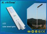 6W-120W todo em uma luz solar de controle remoto do diodo emissor de luz da rua com telefone APP