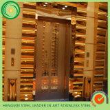 color decorativo 201 304 que graba al agua fuerte piezas inoxidables de la cabina de la puerta del elevador de la hoja de acero de las empresas de la construcción