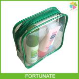 De duidelijke Vinyl Kosmetische Uitrustingen die van pvc de Verpakkende Ritssluiting van de Zak reizen