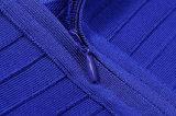 Kurzes Hülsen-Ineinander greifen Vail A - Zeile Aufflackern-reales Silk Dame-Kleid