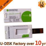 USB promocional del regalo con USB de la tarjeta de crédito Pendrive de la insignia de encargo