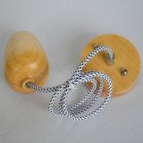 Cuerda ligera pendiente de la lámpara del diseño de madera