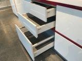 Diseño moderno blanco comercial modular de la cabina de cocina de la laca