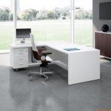올려진 상단 합판 제품 사무실 책상, L 모양 행정상 테이블