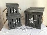 Caixa de madeira natural personalizada Eco-Friendly de caixa de madeira para o armazenamento