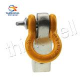 高品質の保護ゴムが付いている固体Dリングの連結器の受信機の手錠ブラケット