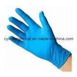 Медицинские устранимые перчатки рассмотрения нитрила