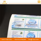 Escrituras de la etiqueta de empaquetado autas-adhesivo del producto del cuidado médico