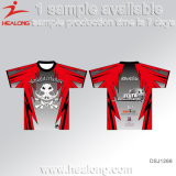 Healong estofou o Sublimation toda a camisa personalizada logotipo do polo T dos homens