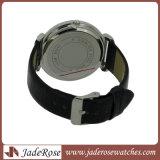 La montre des femmes de montre de caisse d'alliage de courroie en cuir