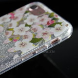 caixa do telefone do papel TPU do Glitter 3in1 para o iPhone 7/7 positivo