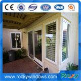 Diseño de aluminio de la parrilla de puerta principal de la puerta de la doble vidriera de la puerta del marco de la rotura termal de la seguridad
