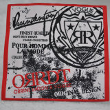 Morbidamente Cotton Woven Labels Inside con Garment/Jacket