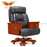 Роскошной 0Nисполнительный научной изогнутый конструкцией стул Высокого-Назад босса кожаный для CEO (A-017)