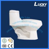 Taille en deux pièces de toilette de carte de travail de lavage à grande eau en céramique normal
