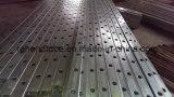 粉の上塗を施してあるやりの上の鋼鉄棒杭の囲いのパネル
