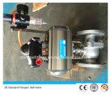De Norm JIS voorzag de Pneumatische Actuator Kogelklep van het Roestvrij staal Van een flens