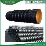 Tubo caldo di plastica di bobina di spirale del filamento dell'HDPE