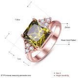 De groene Juwelen van de Vrouwen van de Diamant van de Ring Zicron Goud Geplateerde