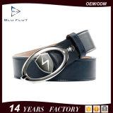 Metallfaltenbildung-echtes Leder-Taillen-Riemen-Form-Marke Magizine Riemen