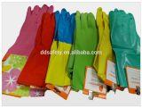 Перчатки DHL214 Bicolor домочадца латекса работая