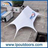 Tienda máxima doble al aire libre de la araña de la cortina de la estrella del pabellón del PVC del blanco para el acontecimiento