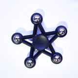 De plastic Gyroscoop Pentagram friemelt Hand van de Ster van het Speelgoed ABS vijf-Gerichte friemelt Spinner met Metaal