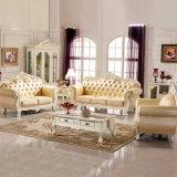 Sofá de cuero con la mesa de centro para los muebles de la sala de estar (929S)
