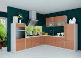 Gabinete de cozinha lustroso elevado da laca moderna