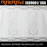 Tag contra-roubo do papel lustroso RFID da freqüência ultraelevada para a gestão de ativos