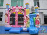Casa animosa inflable popular de Dora/diapositiva combinada inflable