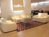 Sofá casero del cuero genuino de los muebles (B03836)