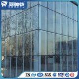Profil en aluminium de projet de façade avec la grande surface d'enduit de poudre de dimension