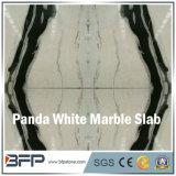 De opgepoetste Witte Marmeren Plak Bookmatched van de Panda voor de Tegels van de Vloer