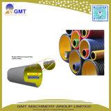 Chaîne de production ondulée d'extrudeuse de pipe de double mur du plastique HDPE/PVC