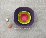 Kom van de Salade van de Vezel van het Bamboe BPA de Vrije Eco Middelgrote (yk-B2003)