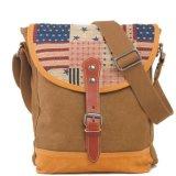 Sacchetti di spalla del messaggero della tela di canapa di disegno della bandiera americana (RS-6002B)