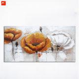 Peinture à l'huile fabriquée à la main de fleur d'art détaillé de mur