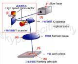 Лазер Mareking & гравировальный станок волокна Raycus с двигая изготовлением таблицы