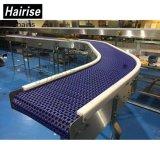 Speed Running Flush Grid Plastic Modular Conveyor com Long Wear
