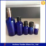 botella de cristal del cuentagotas del azul de cobalto 20ml para el petróleo esencial