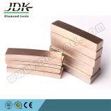 Type de ventilateur de JDK segment de diamant pour le découpage de marbre