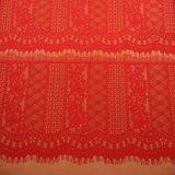 Tela del cordón por el color de rosa de la yarda para los vestidos