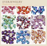 Oval do Rhinestone 10*14 da resina com furo para Sewing