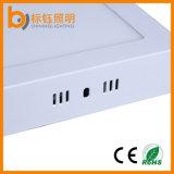 "CE RoHS de aluminio puro Aprobado 12 Blanco ""Plaza 24W superficie de un panel de luz LED de montaje"