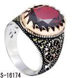 Nieuw Ontwerp 925 de Zilveren Ring van Juwelen met Natuurlijk Agaat