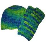 Славным шлем и шарф связанные цветом (JRK214)