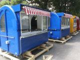 Передвижные тележки торгового автомата улицы быстро-приготовленное питания с сенью