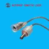 Technologies neuves 2 cables connecteur électriques imperméables à l'eau de C.C de fil